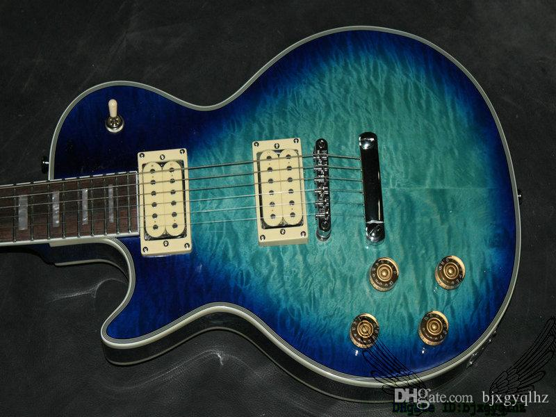 Blue Burst Left Handed Electric Guitar Mahogany Body High Quality Musical instruments
