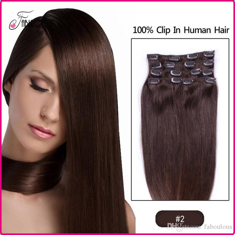 Best Selling Clip In Human Hair Extensions 15 18 20 22 Remy Human
