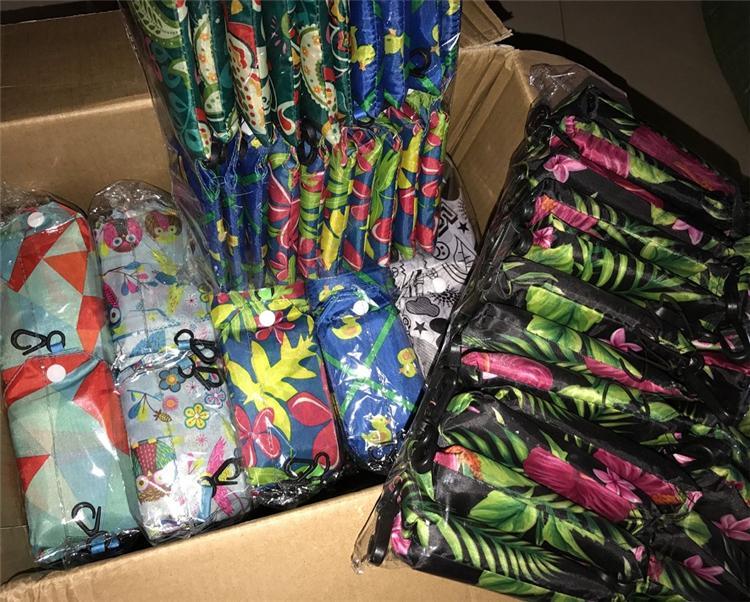 New dobráveis saco de nylon dobrável Sacos reutilizáveis ecologicamente correta dobrar o saco Sacos sacos novos Ladies armazenamento IB002