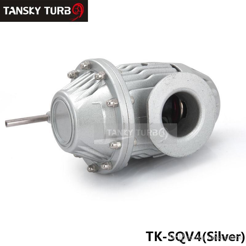 Valve de purge turbo universelle en aluminium argentée de style Turbocharge SSQV SQV4 de style SQVIV avec flang pour Subaru argent / noir TK-SQV4F