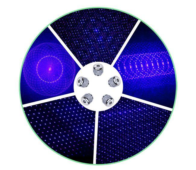 Yeni Yüksek Kalite 450nm Mavi Lazer Pointer Kalem Lazer Pointer SOS Feneri Görünür Işın + Pil Şarj