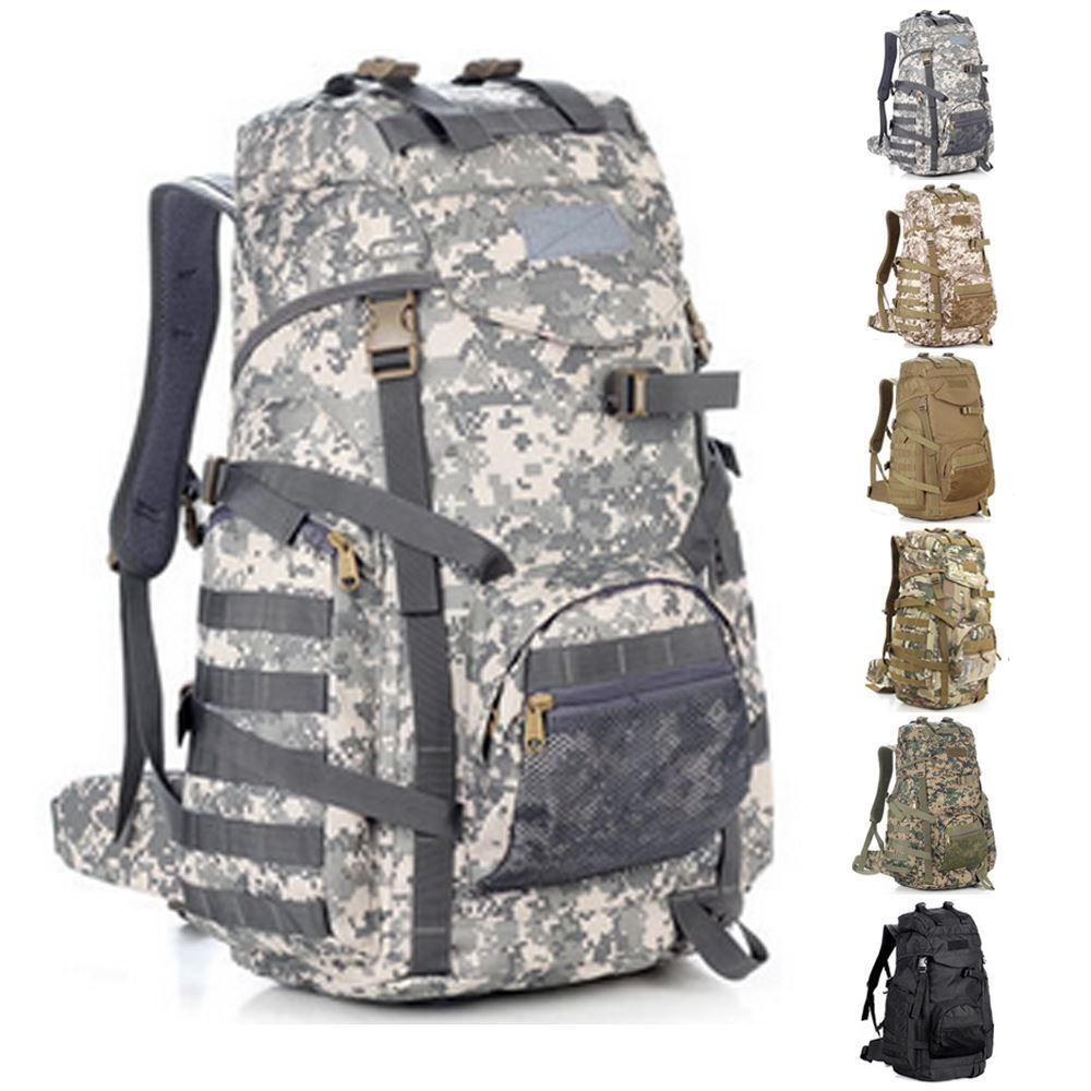 9f217f87049e 2019 60L Hunting Tactical Backpack ACU Tactical Range Bag Sacheted MOLLE Tactical  Gear Hiking Rucksack Survival Military Backpacks From Yassin