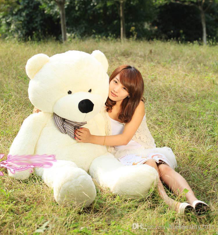 2019 sale new giant teddy bear 72 inch 180 cm feet teddy bear stuffed light brown giant jumbo. Black Bedroom Furniture Sets. Home Design Ideas