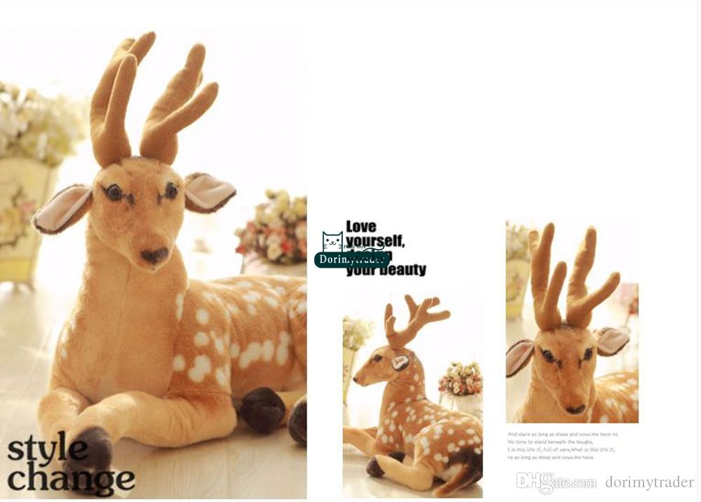 Dorimytrader New Arrival 35'' / 90cm Cute Stuffed Soft Plush Giant Emulational Animal Deer Toy, Nice Baby Gift, DY60649