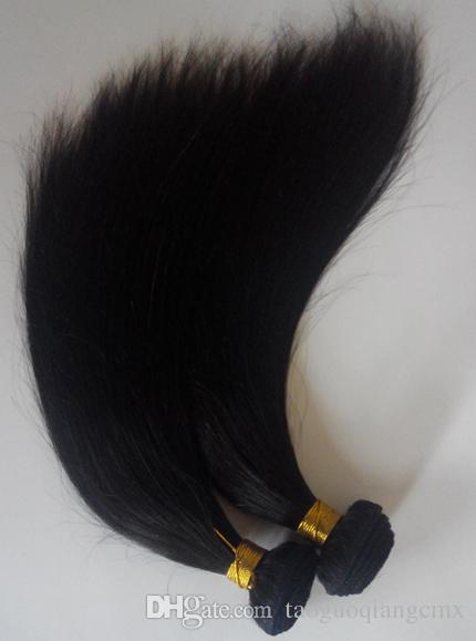 Cheveux humains vierges brésiliens Weave 8-28 pouces Indien remy Extensions de trame de cheveux vente chaude pas cher mongol malaisien cheveux raides naturels