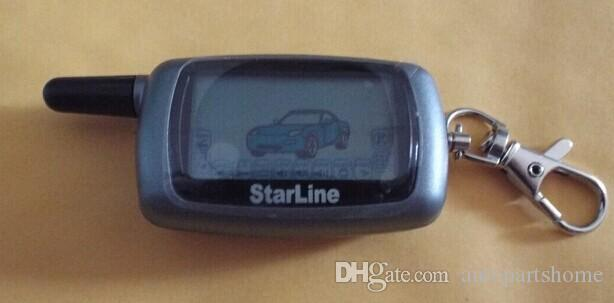 Russia new Version Car Starline A6 LCD Remote controller two way car alarm system
