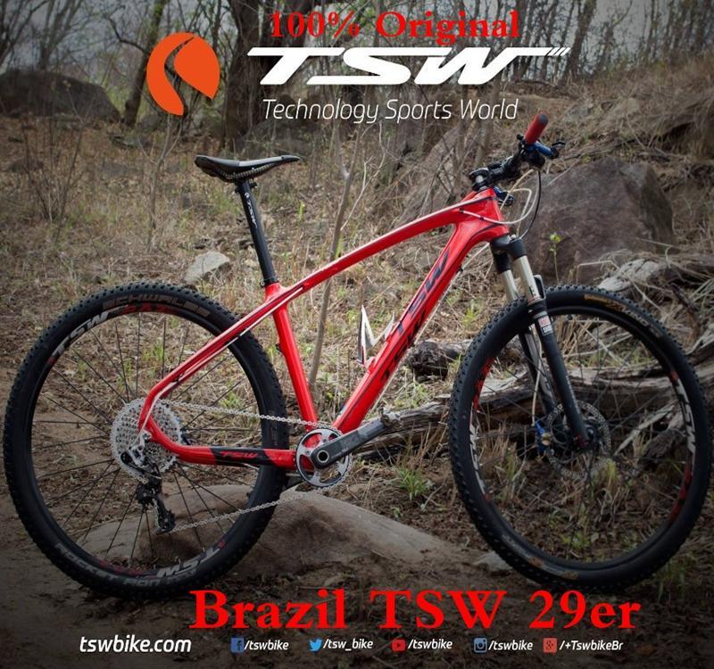 100% Auténtico, Perfecto! Brasil Tsw 29er Bicicleta Marco De Fibra ...