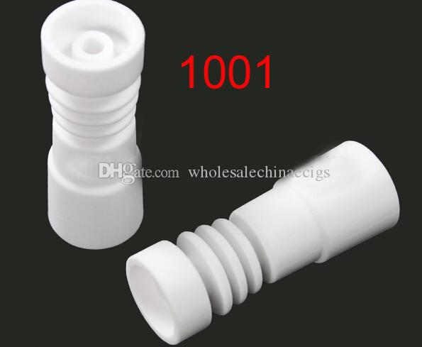 14mm&18mm domeless ceramic nail with female male for Glass water Pipe atomizer Vs domeless ceramic nails MOQ is