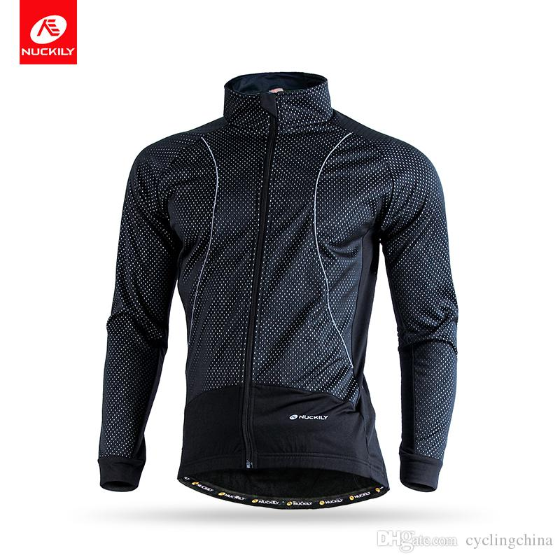 12fe30ee8 NUCKILY Winter Men s Long Sleeve Thermal Cycling Jersey Windproof ...