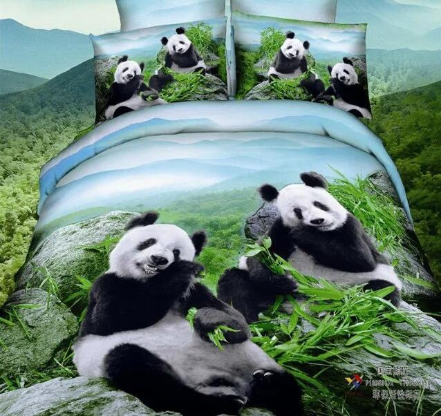 Animals, tigers, lions, wolves 3D Reactive Printing Bedding Sets Quilt Duvet Cover Bed Sheet Pillowcase Comforter Sets