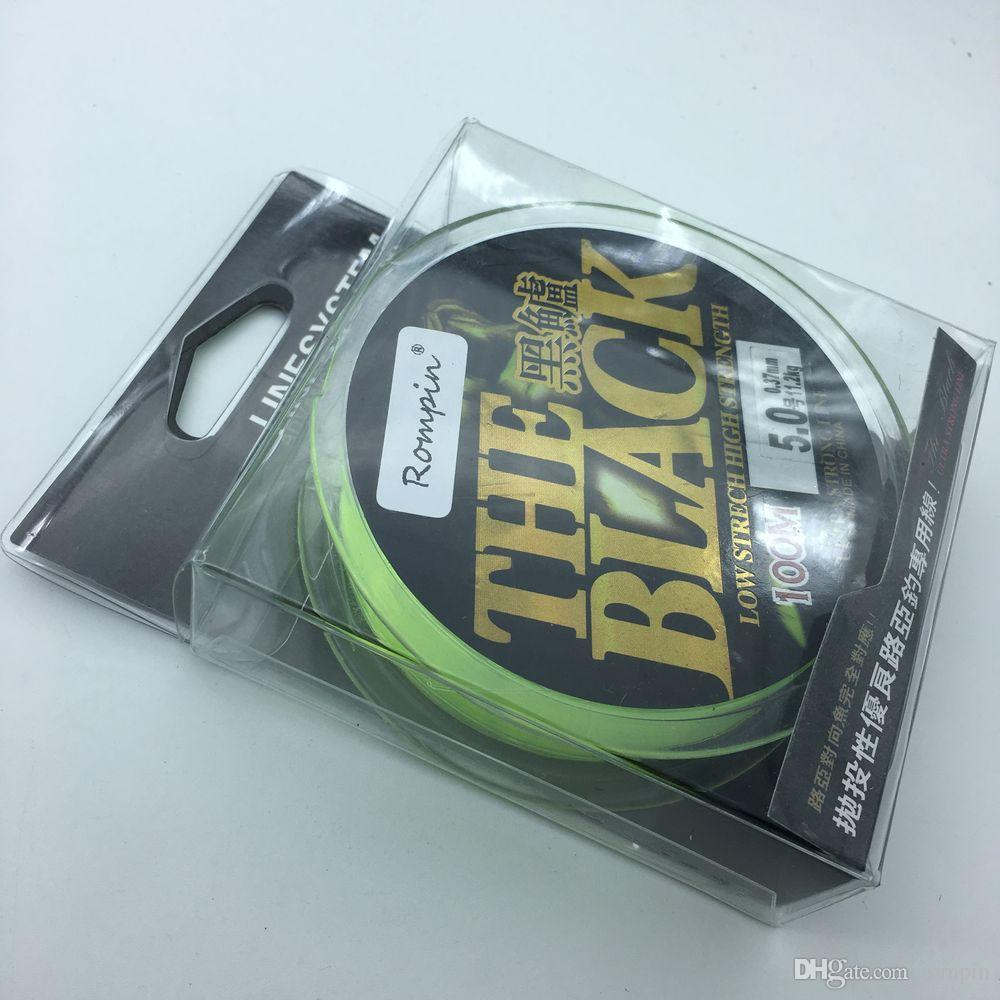 Fluorocarbon braided fishing line nylon line 100m for lure sea bass Super Strong rocky road