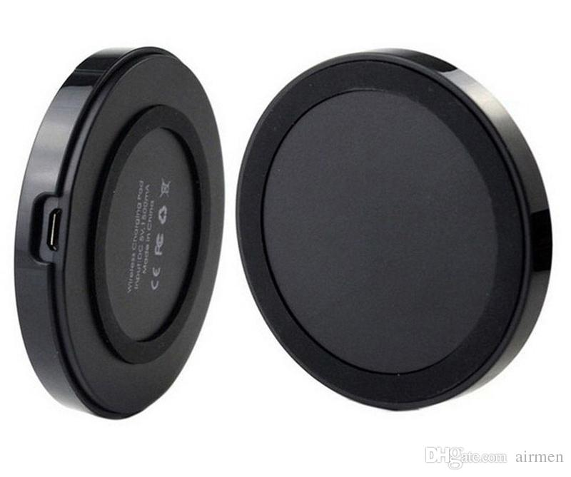 2015 Ци беспроводное зарядное устройство сотовый телефон мини зарядка Pad для Iphone 6 5 Samsung Galaxy S6 S7 edge с розничной упаковке DHL бесплатно