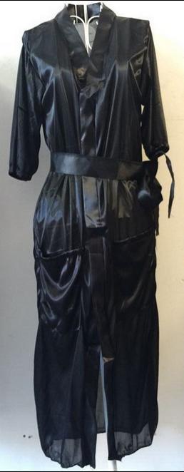 المرأة مثير الحرير طويل كيمونو تضميد ثوب حمام رداء بيبي دول الملابس الداخلية باس النوم
