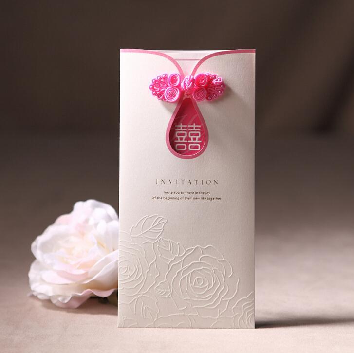 2016 Wedding Cards Fold New Flower Pattern Wedding Invitations – Folding Invitation Cards