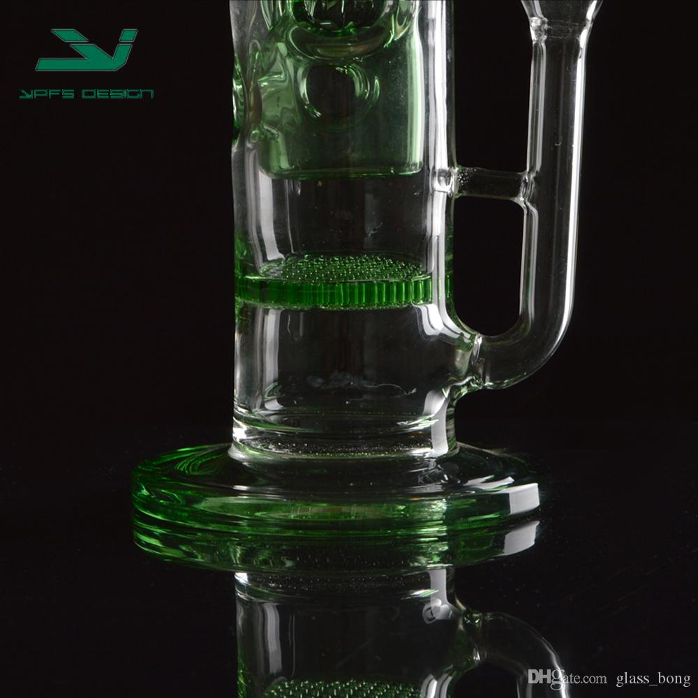 Recycler Bongs glass water pipes oil rigs top sell manufacturer glass pipe water percolator high new item glass hookah