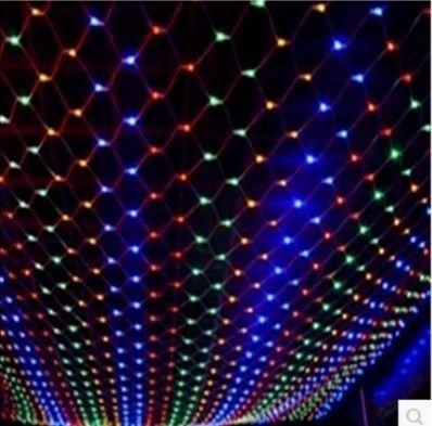 Mode Fairy Christmas Meshwork Kroonluchters LED Nets Lampen Netlichten 3M * 2M 200LED