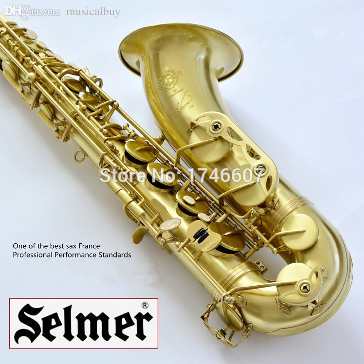 wholesale selmer baritonsaxophon tenor saxophone wire drawing bronze copper 54 professional b mouthpiece sax saxofone 37 alto saxophone ligature saxophone