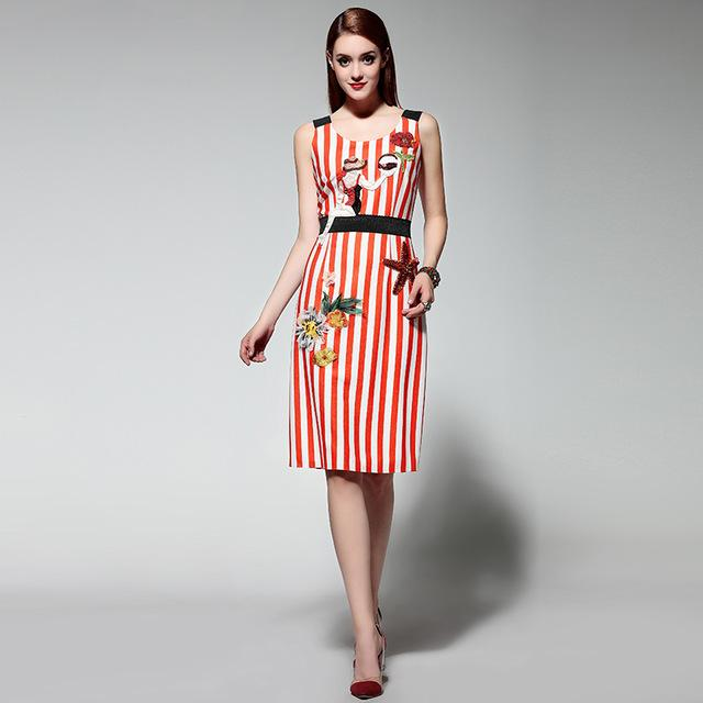 Red Stripe Dresses