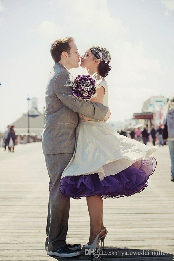 Färgglada lila petticoats 1950s stil Tulle Custom gjorde några färger Billiga i lager Underskirt Gratis frakt Tulle Kjolar Petticoats för DRES