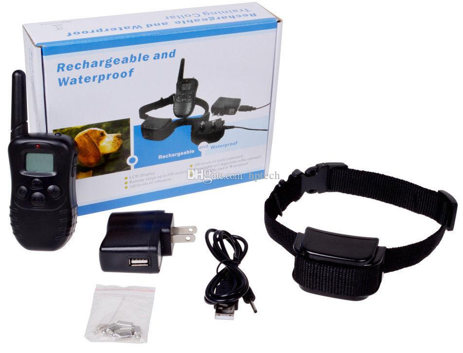 Rechargeable and Waterproof 300 Meters Remote Pet Training Collar with LCD Display with 1 collar for 1 dog 998DR1