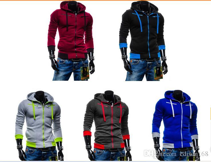 Avec Hot Sale hommes à capuchon Hat Fleece Cardigan manches longues à capuche Manteau Veste Pardessus Vêtements 5 Taille unique Couleur M-2XL 8705