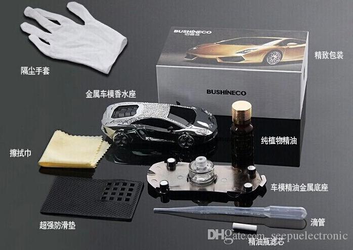 Metal kristal elmas alaşım araba modeli spreyi parfüm şişesi taban araba süslemeleri
