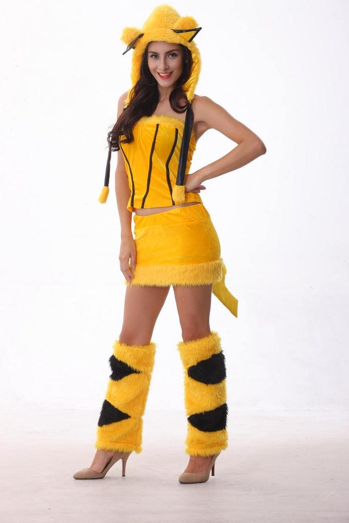 Japan Halloween Christmas Cosplay Party Costume Cartoon Pikachu Theme Party Cos Anime Plush Into Role Playing Clothing With Tail Group Costumes For 3 ...  sc 1 st  DHgate.com & Japan Halloween Christmas Cosplay Party Costume Cartoon Pikachu ...