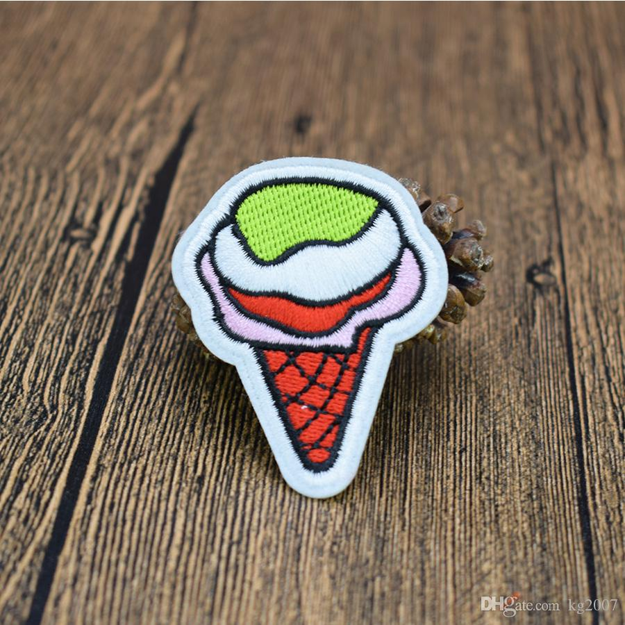 Ice Cream Patches for Clothing Iron on Transfer Applique Patch for Kids Garment DIY Sew on Embroidered Applique Accessories