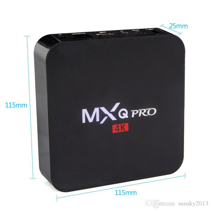 MXQ Pro Android 7.1 TV Box Amlogic S905W Quad Core Smart Mini PC 1G 8G Support Wifi 4K H.265 Streaming Google Media Player RK3229