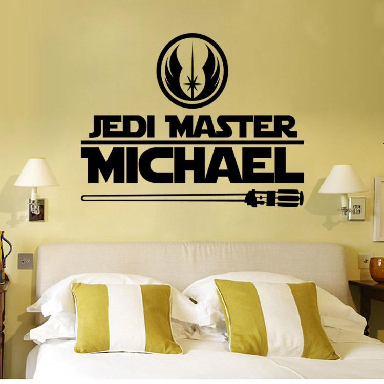 Newest Star Wars Wall Stickers 2 Styles Star Wars Logo Letter Characters  With Battleship And Lightsaber Bathroom Wall Stickers Batman Wall Stickers  From ...