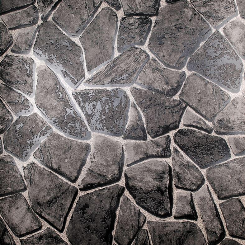 Rock Effect Natural Stone Wallpaper Waterproof Embossed Vinyl Rock Adorable Grey Pattern Wallpaper