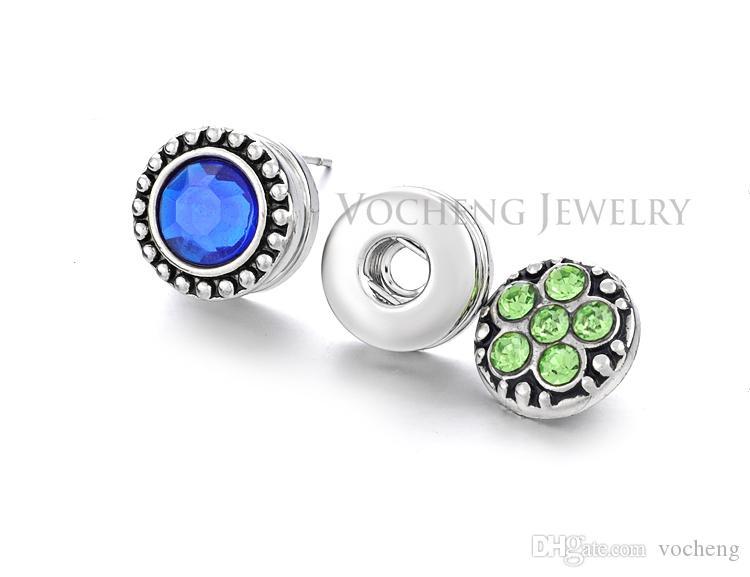 رشيق مجوهرات NOOSA 12MM قطع صغيرة التقط زر القرط مجوهرات DIY نوسا Ve-002