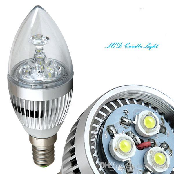 E14 светодиодные свечи лампы 3W Теплый Чистый холодный белый Лампа Лампа для Люстра канделябры украшения