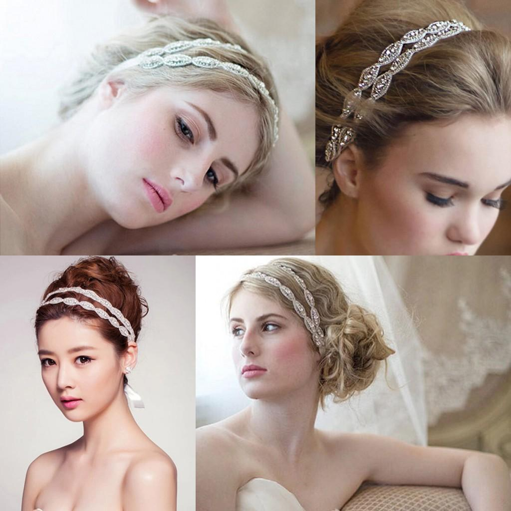 Vintage Cheap Only $16.9 Wedding Jewelry Bridal Crown Tiara Crystal Rhinestone Ribbon Bridal Hair Accessories Headpieces Frontlet Hairbands Fashion Hair Accessories Flower Hair Pieces From Wheretoget, $11.96