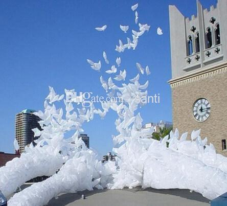 New Arrive Wedding helium inflatable biodegradable white Dove Balloons for wedding decoration doves shaped bio balloons