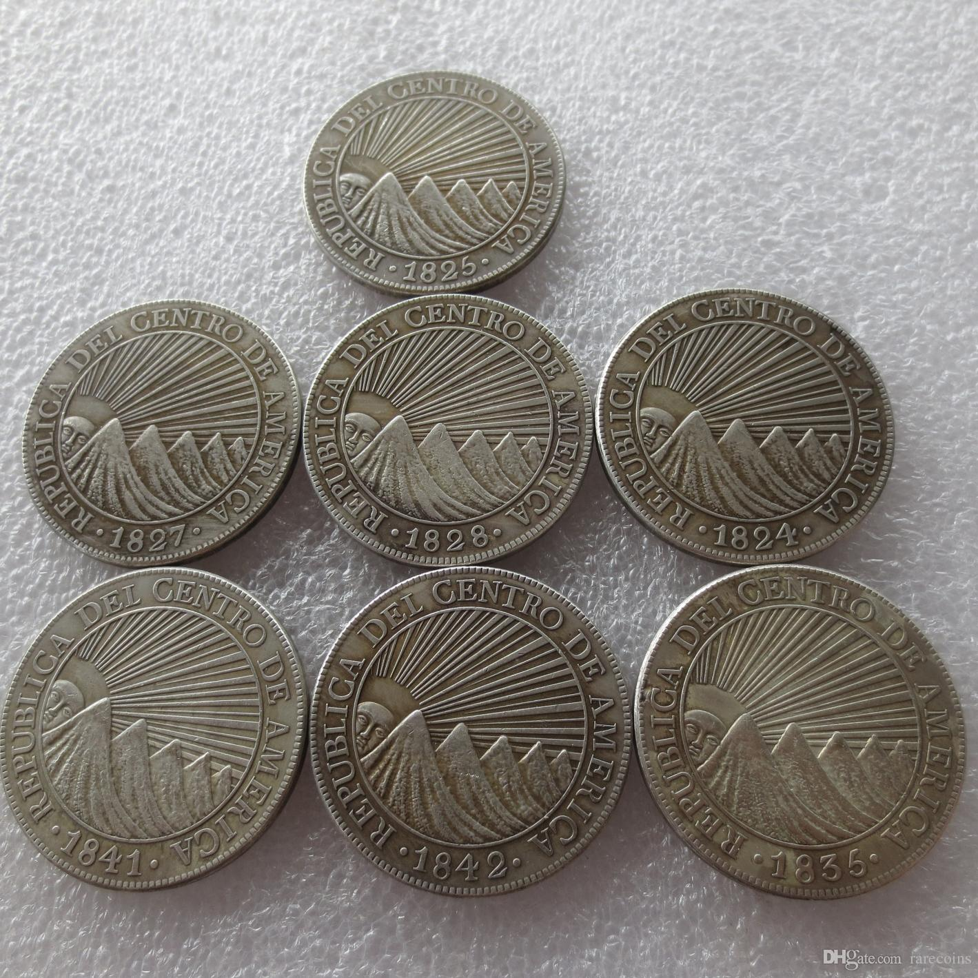 2019 Central American Republic A Set Of 1824 1842 8 Reales Silver Copy Coin Cheap Factory Price Nice Home Accessories Coins From Rarecoins