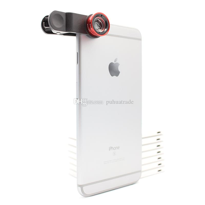 External effects universal clip lens for iphone/samsung/ipad/motorola fisheye ultra wide-angle macro universal mobile phone camera lens