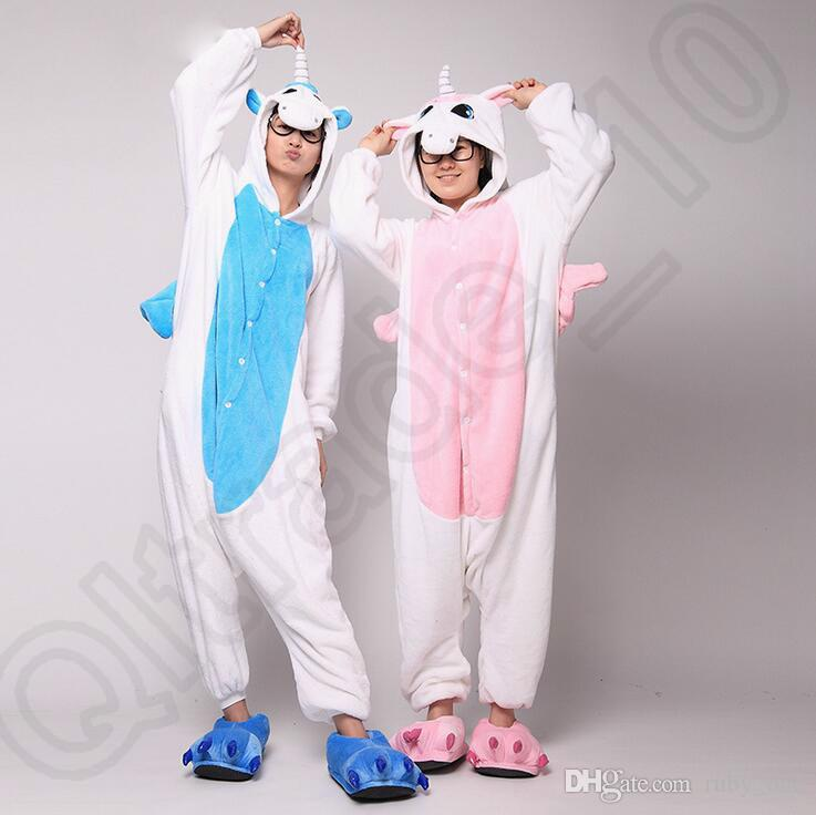 Hha696 Pony Unicorn Cosplay Costumes Onesie Pajamas Kigurumi Jumpsuit Hoodies Adults Romper For Halloween Mardi Gras Carnival Groups Of 3 Cool