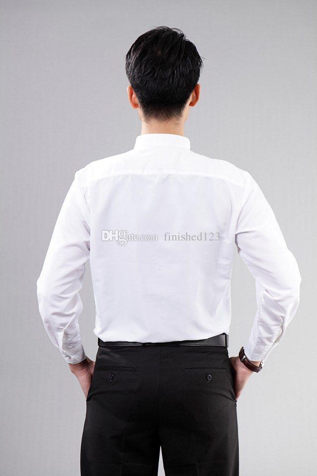 Hochzeits-Kleid-Bräutigam-Abnutzungs-Hemden der neuen Art-hochwertigen weißen Männer tragen Hemdkleidung OK: 02