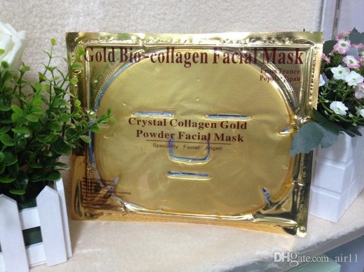 2015 Sıcak satış Altın Bio-Kolajen Yüz Maskesi Yüz Maskesi Kristal Altın Tozu Kollajen tarafından ücretsiz kargo