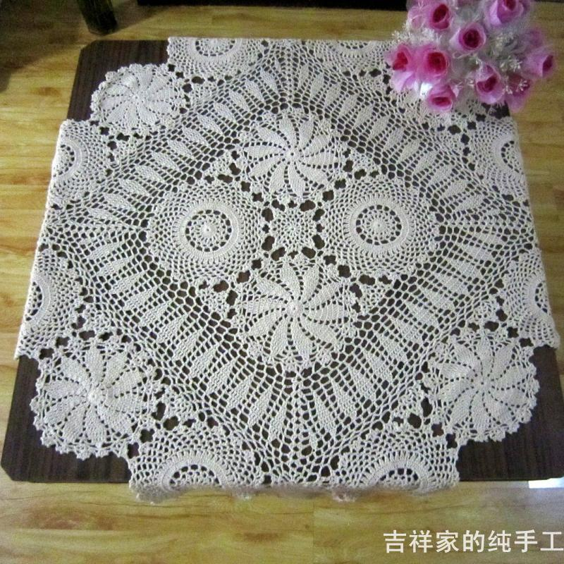 2014 New Ikea Fashion Design Beige 90cm Square Handmade Crochet Table Cloth  Tablecloth Cutout Decoration Table Cover Overlay Mat Table Napkin Folding  Paper ...