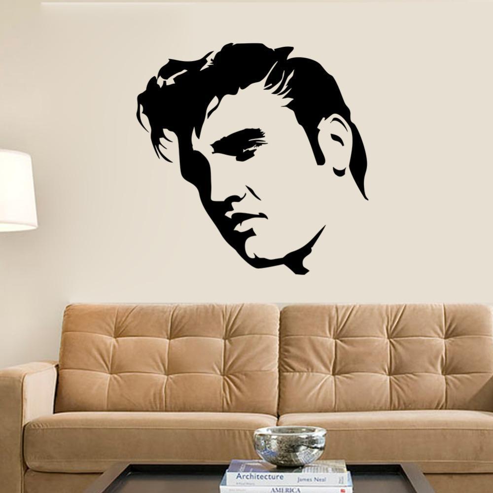 Acquista Elvis Presley Grande Camera Da Letto Parete Sticker Art ...