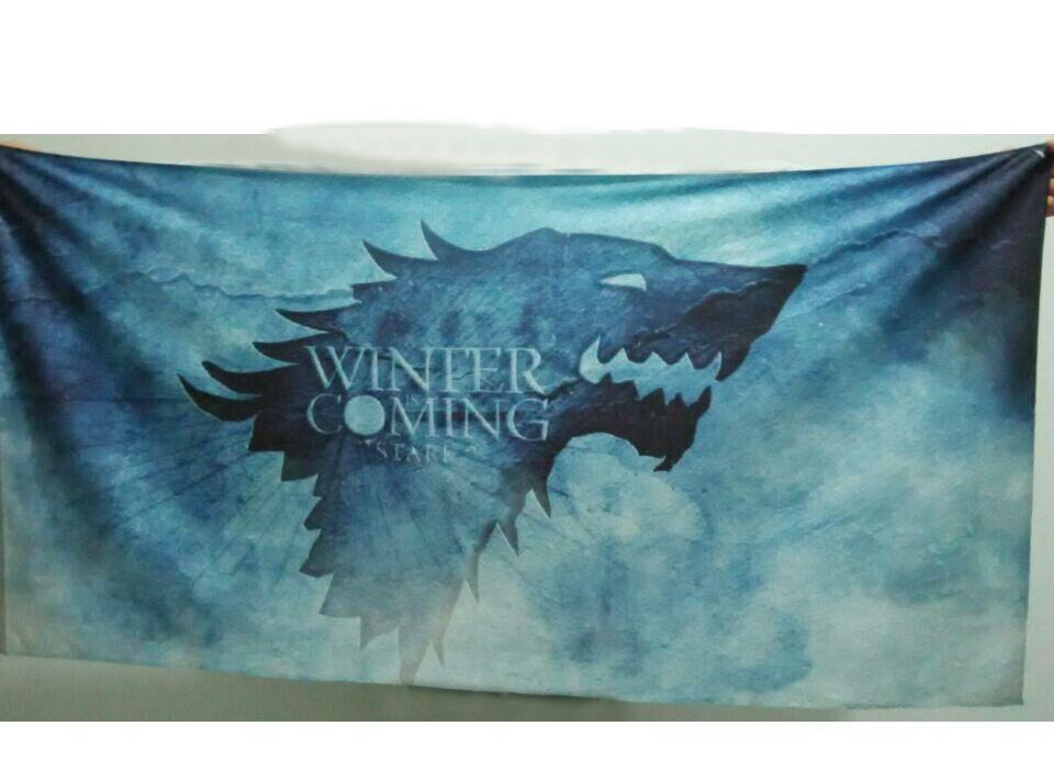 Asciugamani da doccia Tema di Trono su Thrones in tinta unita personalizzata il bagno Telo da bagno grande formato 140x70cm bambini adulti