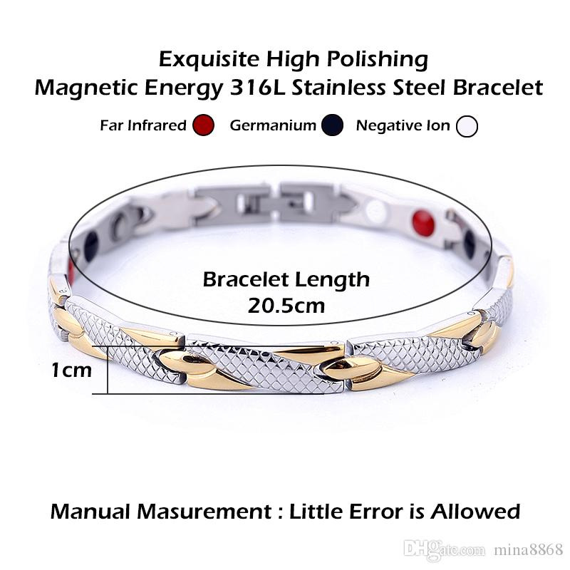 New Arrived Healing Magnetic Bracelet Power Therapy Magnets Bracelets Bangles for Women Men Jewelry Wholesale