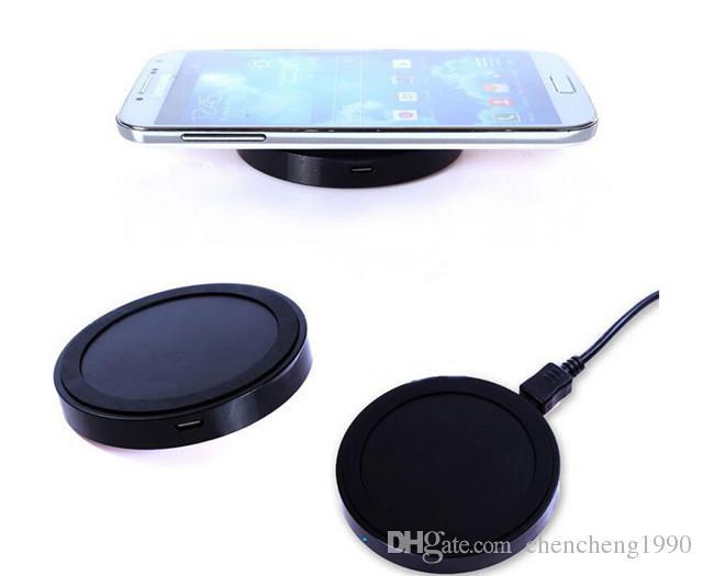 삼성 전자 갤럭시 S3 S4 S5 HTC 용 정품 상자 QI 무선 충전 충전기 패드와 함께 노키아 LG IOS 안드로이드 유니버설