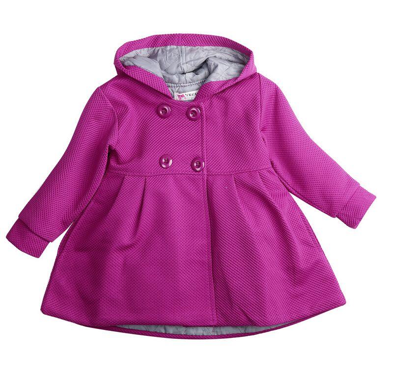 Baby toddler girl warm fleece winter pea coat snow jacket