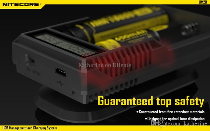 Originale Nitecore I2 I4 D2 D4 UM10 UM20 Universale Intellicharger Display LCD E Sigarette Caricatore 18650 18350 1850 14500 Li-on Batteria