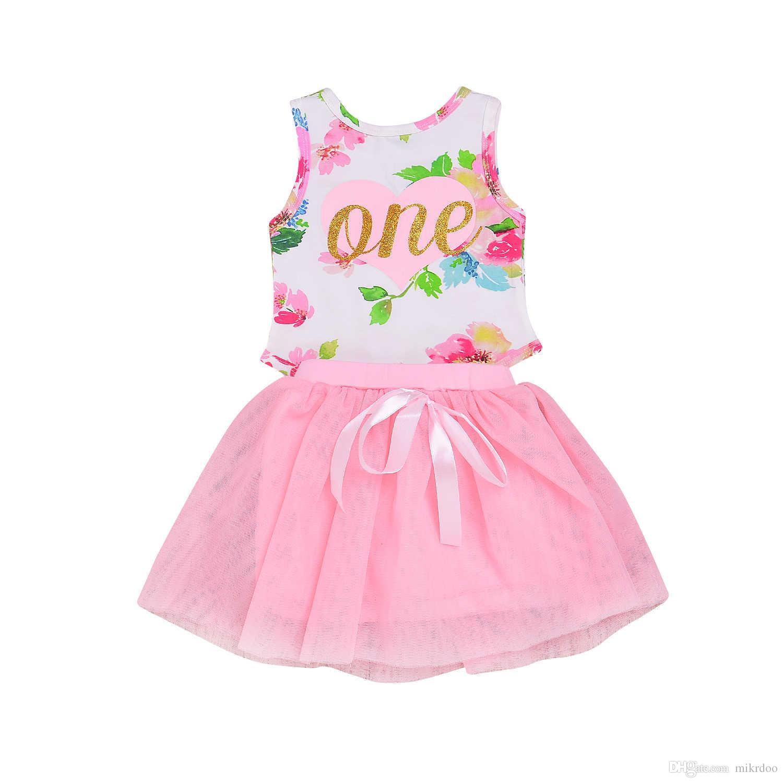 4580ee4a1 2019 Mikrdo Princess Newborn Baby Girl Dress Baby Sleeveless Toddler ...