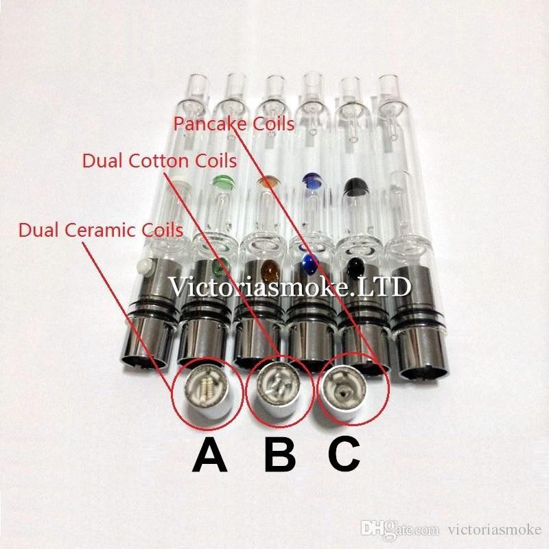10 unids Glass Hookah atomizador vhit atomizador tanque Dry Herb Wax Vaporizador herbal vaporizadores pluma filtro de agua tubo ecig e cigarrillos bongs