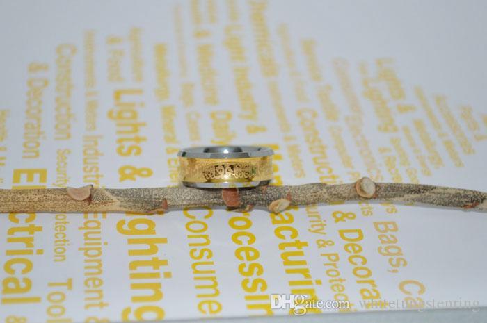 Anelli di tungsteno coppia placcato oro 18 kt